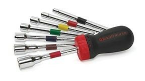 Gearwrench 9pc Sae Interchangeable Ratcheting Nut Driver Set 3 16 To 1 2 8908