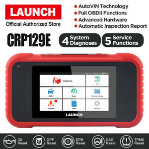 Launch Crp129e Obdii Diagnostic Scanner Oil Abs Sas Tpms Airbag Srs Reset Tool