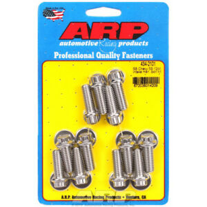 Arp Intake Manifold Bolt Set 434 2101 Polished 12 Point Stainless Steel For Sbc