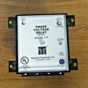 Iti Instrument Transformers Phase Voltage Relay Spvra 415 415v New
