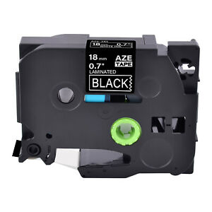 1pk White On Black Label Tape Tze345 18mm For Brother P touch Pt 300 Tz345 3 4