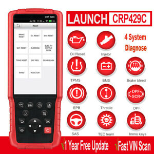 Launch Obd2 Scanner Crp429c Car Diagnostic Scan Tool Abs Srs Tcm Eng Code Reader
