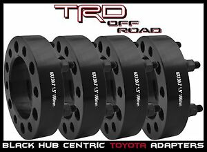 4 Pc Toyota 1 5 Thick Black Hub Centric Wheel Spacers Adapters 6x139 Or 6x5 5