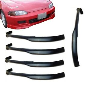 5x For 92 95 Civic 2 3 Dr Type R Pu Poly Urethane Black Add on Front Bumper Lips