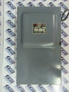 Wadsworth 8713n 100 Amp 240 Volt Fusible Disconnect