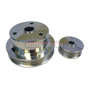 Polish Billet Aluminum Chevy 305 350 Camaro Serpentine Pulley Crank Alternator