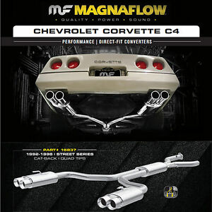Magnaflow Cat Back Exhaust Street Series 92 96 Chevy Corvette 5 7l Quad 4 Tips
