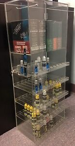 Acrylic Display D300 E juice liquid W building Taster Countertop showcase W key