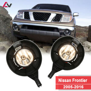 For Nissan Frontier 05 16 Clear Lens Pair Oe Fog Light Lamp wiring switch Kit