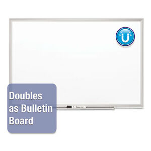 Classic Series Porcelain Magnetic Board 48 X 36 White Silver Aluminum Frame