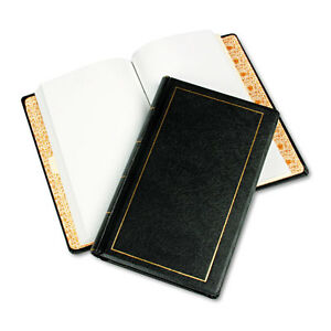 Looseleaf Minute Book Black Leather like Cover 125 Pages 250 Cap 8 1 2 X 14