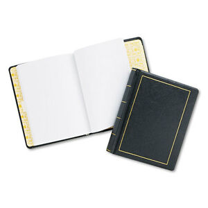Looseleaf Minute Book Black Leather like Cover 125 Pages 250 Cap 8 1 2 X 11