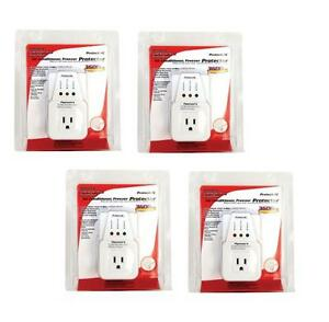 4 Lot Pack Appliance A c Brownout Voltage Surge Protector 3600 Watts Va
