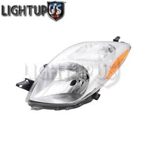 Headlights Headlamps Left Only For 06 08 Toyota Yaris Hatchback