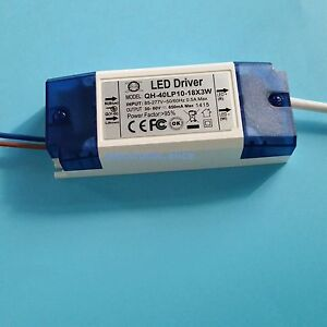 Constant Current Driver For 10 18pcs 3w High Power Led Ac85 265v 40w 600ma