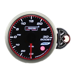 Prosport Electrical Universal Halo Series 52mm 3 Color Boost Gauge 30 30 Psi
