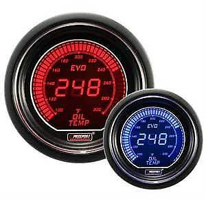 Prosport Evo Series 52mm Digital Oil Temperature Gauge Blue Red With Sensor