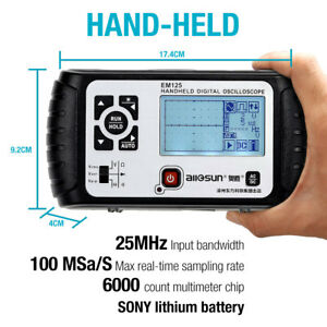 2 In 1 Oscilloscope Digital Scopemeter 25mhz Bandwidth 1 Channel Multimeter