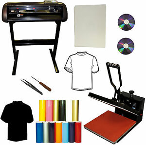 28 24 Vinyl Cutter Plotter 15x15 Heat Press Transfer Paper T shirts Startup Pk