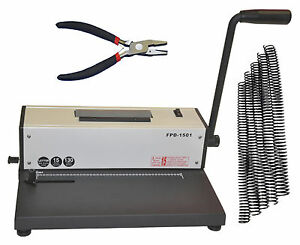 Metal Based Coil Spiral Binding Machine electric Coil Binder plier free 100 Coil