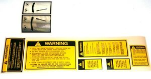 Ford Tractor Safety pto Decal Set 6600 6610 6700 6710 7000 7600 7610 7700 7710
