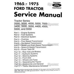 Ford Tractor Factory Shop Service Repair Manual 2000 3000 4000 5000 7000 New