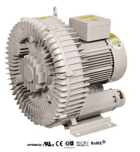 Pacific Regenerative Blower Pb 750 hrb 750 Ring Vacuum And Pressure Blower