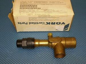 York 025 10510 000 1 1 8 Access Valve Liquid Stop For Chiller Air Cooled New