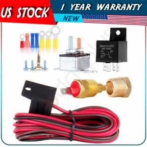 175 To 185 Degree Electric Cooling Fan Thermostat Relay Switch Wiring Hardware
