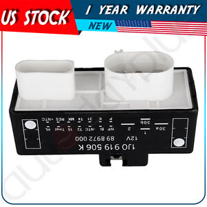 New Cooling Fan Control Unit Module Relay For Vw Audi 1999 2012 1j0919506k