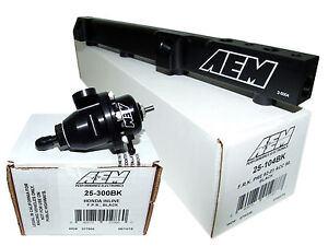 Aem High Volume Fuel Rail Adj Pressure Regulator For Honda F22a1 F22a4 F22a6
