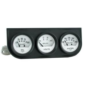 Auto Meter Gauge Set 2324 Auto Gage 2 1 16 Water Temp Voltage Oil Pressure