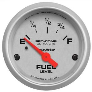 Auto Meter Fuel Level Gauge 4314 Ultra Lite 0 E To 90 Ohms F 2 1 16