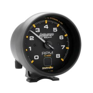 Auto Meter Tachometer Gauge 2302 Auto Gage 0 To 8000 Rpm 3 3 4 Electrical