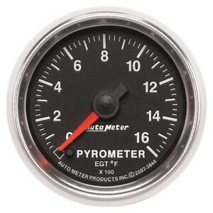 Auto Meter Boost pyrometer Gauge 3844 Gs Kit 0 To 1600 f 2 1 16 Electrical