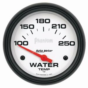 Auto Meter Coolant Temperature Gauge 5837 Phantom Water Temp 100 250 F 2 5 8