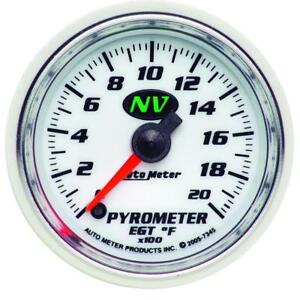Auto Meter Boost pyrometer Gauge 7345 Nv Kit 0 To 2000 f 2 1 16 Electrical