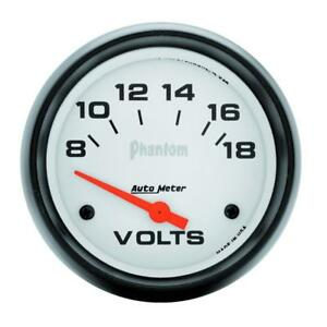 Auto Meter Voltmeter Gauge 5891 Phantom 8 To 18 Volts 2 5 8 Electrical