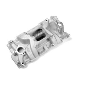 Weiand Intake Manifold 8150 Speed Warrior Dual Plane Satin Aluminum For Sbc