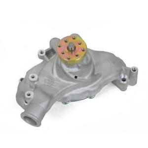 Weiand Water Pump 9242 Action Satin Aluminum Mechanical For Chevy 396 454 Bbc