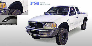 Black Paintable Rugged Fender Flares 1997 2003 Ford F 150 Styleside Only 4pc