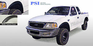 Black Textured Rugged Fender Flares 1997 2003 Ford F 150 Styleside Only 4pc