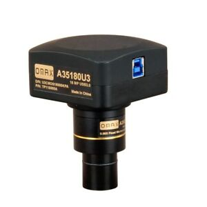 Omax Usb3 0 18mp Super Speed Microscope Camera With Software Calibration Slide