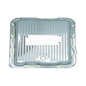 Rpc Automatic Transmission Oil Pan R9712 Finned Chrome Steel For Chevy 700 r4