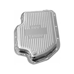 Rpc Automatic Transmission Oil Pan R9121 Finned Chrome Steel For Chevy Th 400