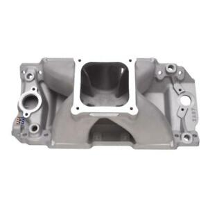 Edelbrock Intake Manifold 2897 Super Victor Ii Satin Aluminum For Chevy Bbc