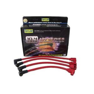 Taylor Spark Plug Wire Set 79288 409 Pro Race 10 4mm Red 90 For Mazda 2 Rotor