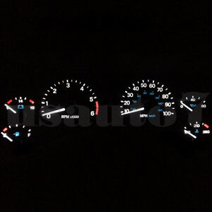 Dash Instrument Cluster Gauge White Leds Lights Kit Fits 97 06 Jeep Wrangler Tj