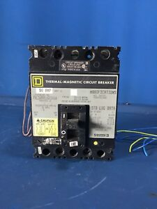 Square D Fhl3609016dc1616 90 Amp 600v Series 2 3 Pole Circuit Breaker
