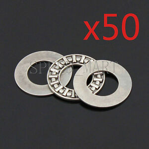 50 Pcs Axk1528 Thrust Needle Roller Bearing With Two Washers 15mm X 28mm X 2mm
